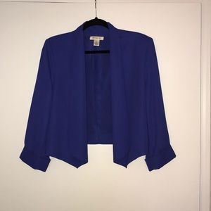 Royal blue blazer.